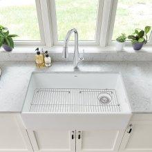 Avery 36 x 20 Single Bowl Apron Kitchen Sink  American Standard - Alabaster White