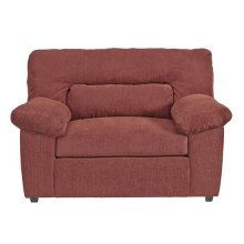 Chair \u0026 a half - Red Chenille Finish