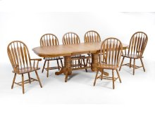 Threshers Oak Trestle (Large) Set; Table & 4 Large chairs