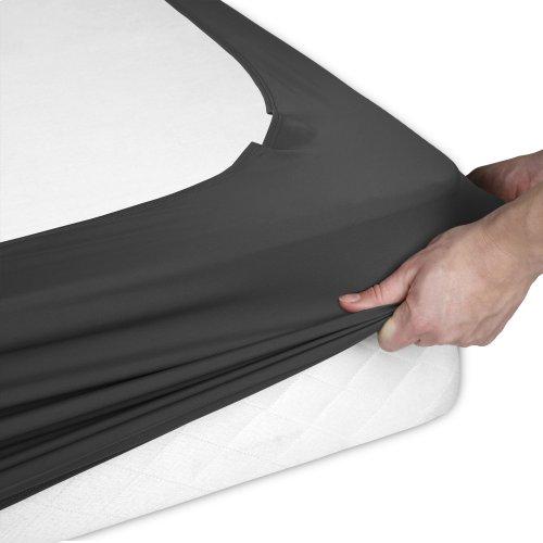 Sleep Plush + Black Fabric Box Spring Cover, Twin