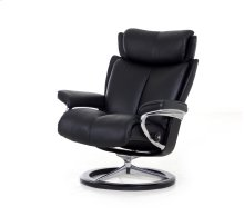 Stressless Magic Large Signature Base Chair and Ottoman