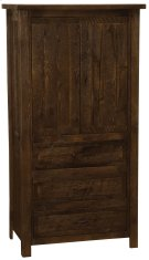 Frontier Three Drawer Armoire with Adjustable Shelving - Red Canyon - Value Line Product Image
