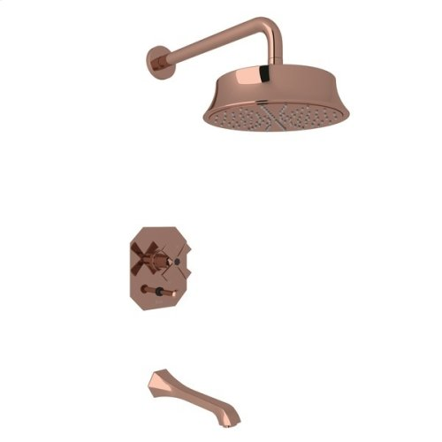 Rose Gold Bellia Bekit300l Pressure Balance Shower Package