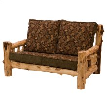 Cedar Log Frame Loveseat - 5' - Standard Fabric - Includes Fabric and Cushions
