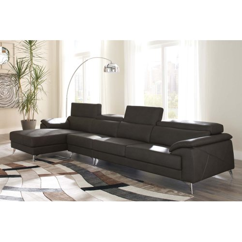 Tindell III Sectional Gray Left