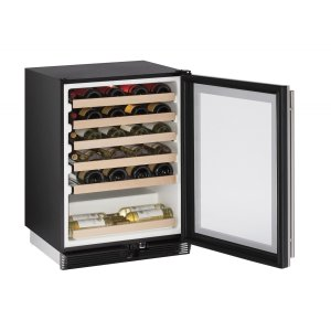 "U-Line1000 Series 24"" Wine Captain(r) Model With Stainless Frame Finish and Field Reversible Door Swing (115 Volts / 60 Hz)"