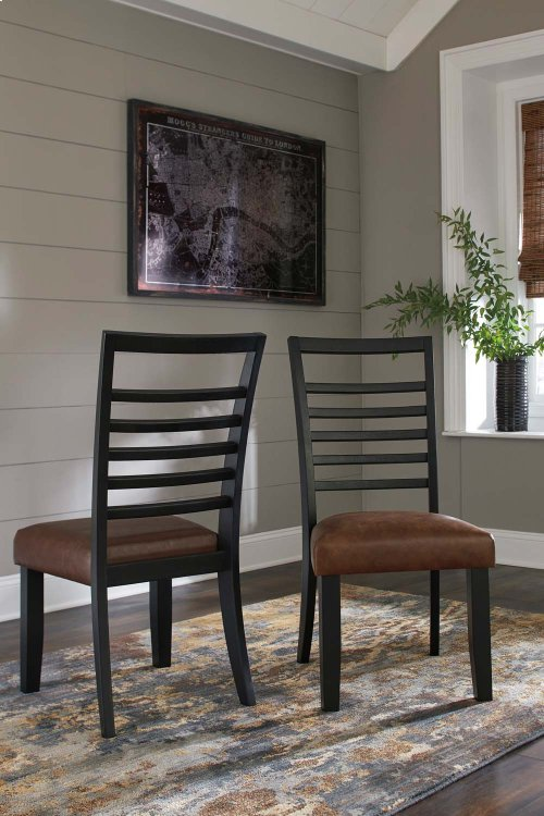 Manishore - Brown Set Of 2 Dining Room Chairs