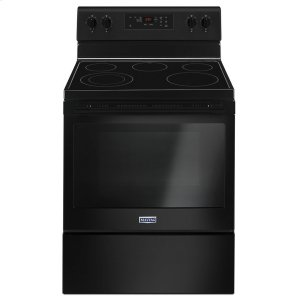 30-Inch Wide Electric Range With Shatter-Resistant Cooktop - 5.3 Cu. Ft. - BLACK