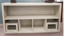 """Lagos 65"""" Basket TV Stand- White (No Baskets included)"""