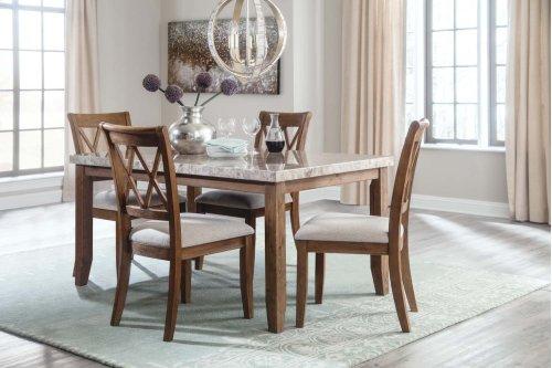 Narvilla - Light Brown 5 Piece Dining Room Set