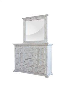 Charleston White Mirror