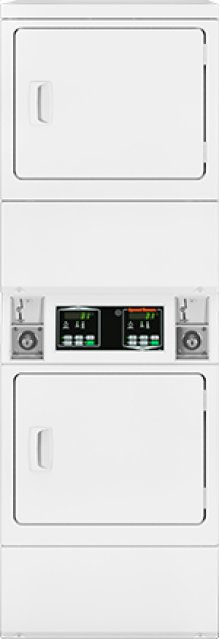 Stack Electric Dryer - Coin-Operated
