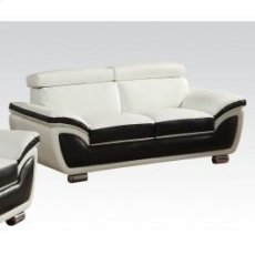 Wh/co Bonded L. Match Loveseat Product Image
