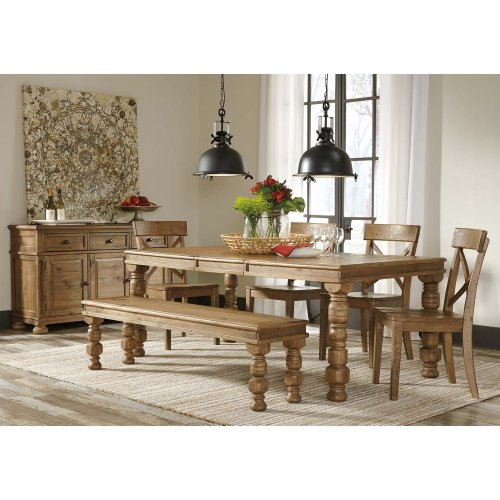 ASHLEY RECT Dining Room EXT Table and 4 Chairs Package