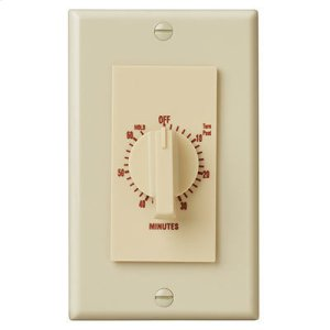 """Broan60 Minute Time Control, with """"continuous on"""" feature. Ivory, 20 amps, 120V"""