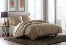 3 pc Queen Duvet Set Champagne