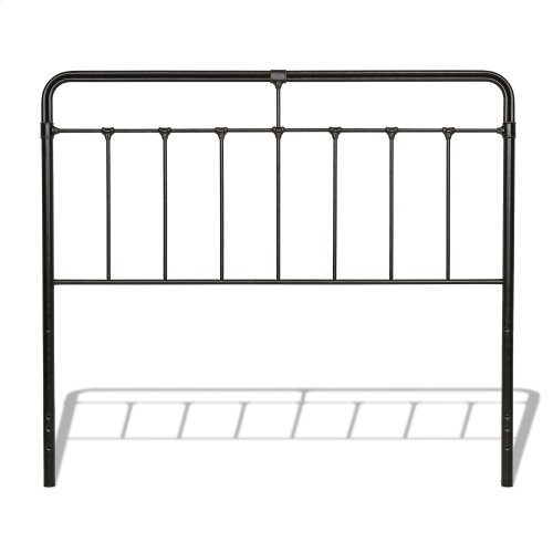 Fairfield Complete Metal Bed and Steel Support Frame with Spindles and Intricate Castings, Dark Roast Finish, King