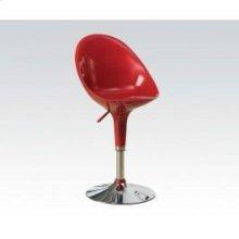Red/chrome High Back ADJ.STOOL