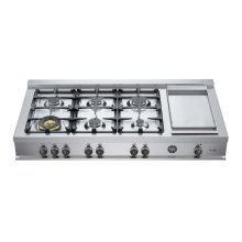 48 Rangetop 6 Burners and Griddle Stainless Steel