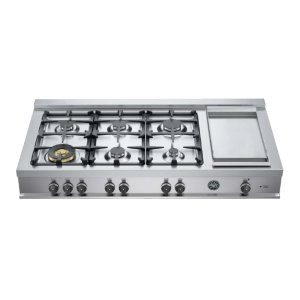 Bertazzoni48 Rangetop 6 Burners and Griddle Stainless Steel