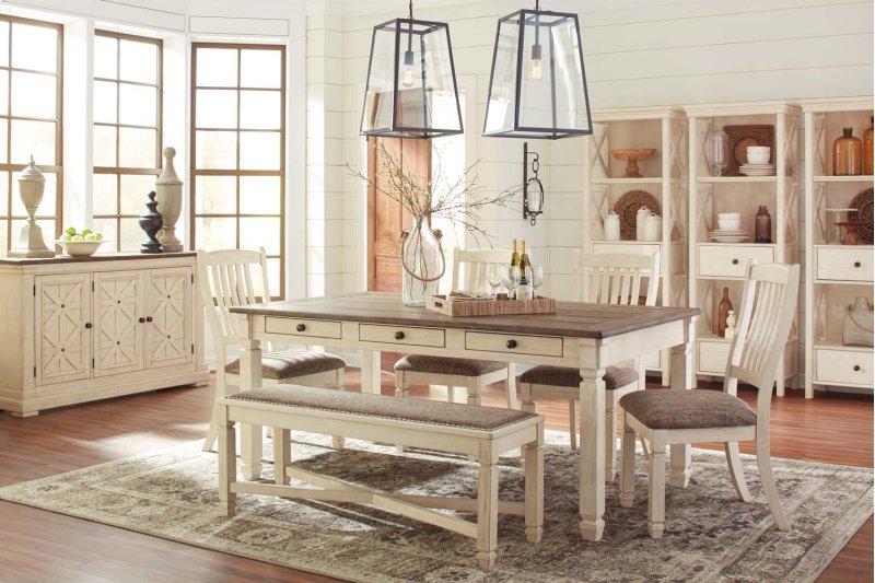Phenomenal Bolanburg Antique White 5 Piece Dining Room Set Home Interior And Landscaping Transignezvosmurscom