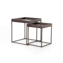 Bronze Finish Nesting Nightstands Set of 2