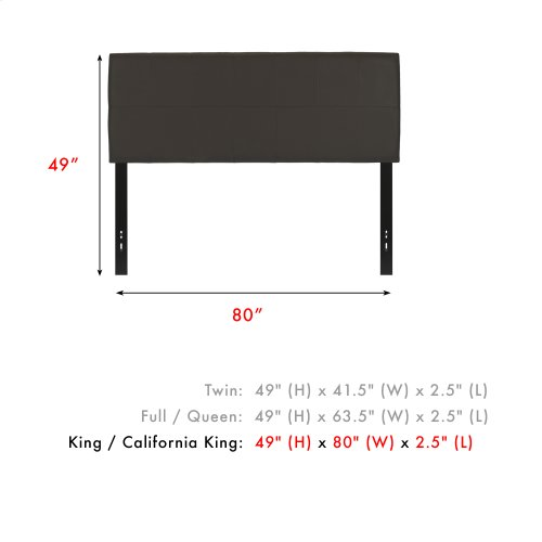 Bronson Faux Leather Upholstered Headboard with Adjustable Height, Mocha Finish, King / California King