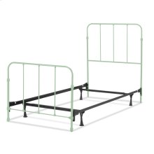 Nolan Fashion Kids Complete Metal Bed and Steel Support Frame with Fun Versatile Design, Mint Green Finish, Full