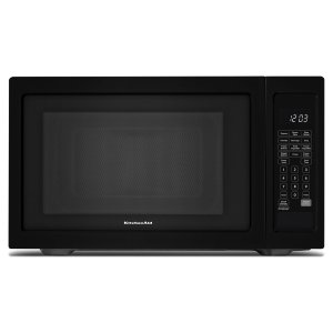 "Kitchenaid21 3/4"" Countertop Microwave Oven - 1200 Watt Black"