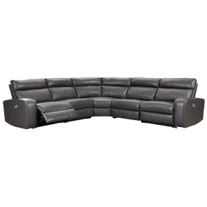 Ashley Furniture Samperstone - Gray 5 Piece Sectional