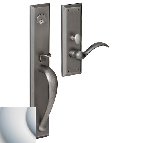 Satin Chrome Cody Full Escutcheon Trim