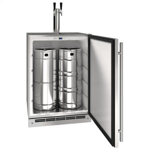 "U-Line15"" Keg Refrigerator With Stainless Solid Finish (115 V/60 Hz Volts /60 Hz Hz)"