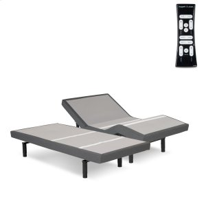 Fashion Bed GroupS-Cape 2.0+ Adjustable Bed Base with (2) 4-Port USB Hub's and Full Body Massage, Charcoal Gray Finish, Split King