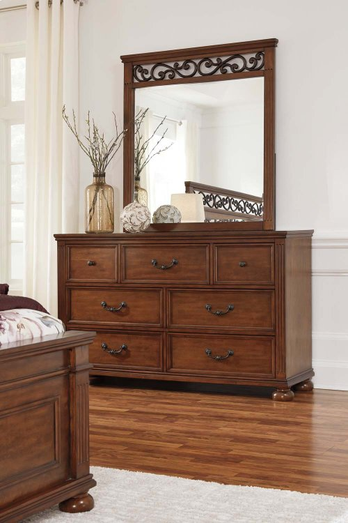 Lazzene - Medium Brown 2 Piece Bedroom Set