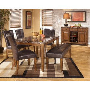 Ashley Furniture Lacey - Medium Brown 6 Piece Dining Room Set