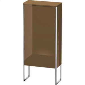 Semi-tall Cabinet Floorstanding, Olive Brown High Gloss Lacquer