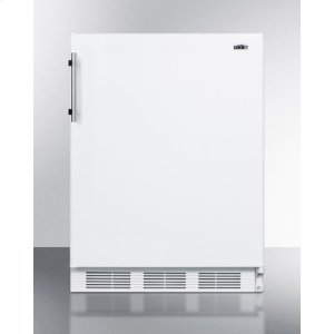 ADA Compliant Built-in Undercounter Refrigerator-freezer for Residential Use, Cycle Defrost With Deluxe Interior and White Exterior Finish -