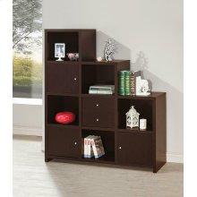 Contemporary Cappuccino Bookcase