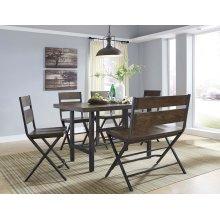Kavara - Medium Brown 6 Piece Dining Room Set