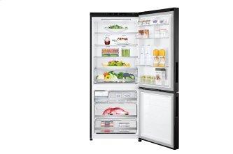 "28"" Counter Depth Bottom Freezer With Door Cooling+ and Flip-up Shelf, 15 CU.FT."