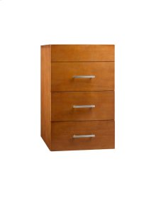 "Venus 15"" Drawer Bridge with Three Drawers in Cinnamon"