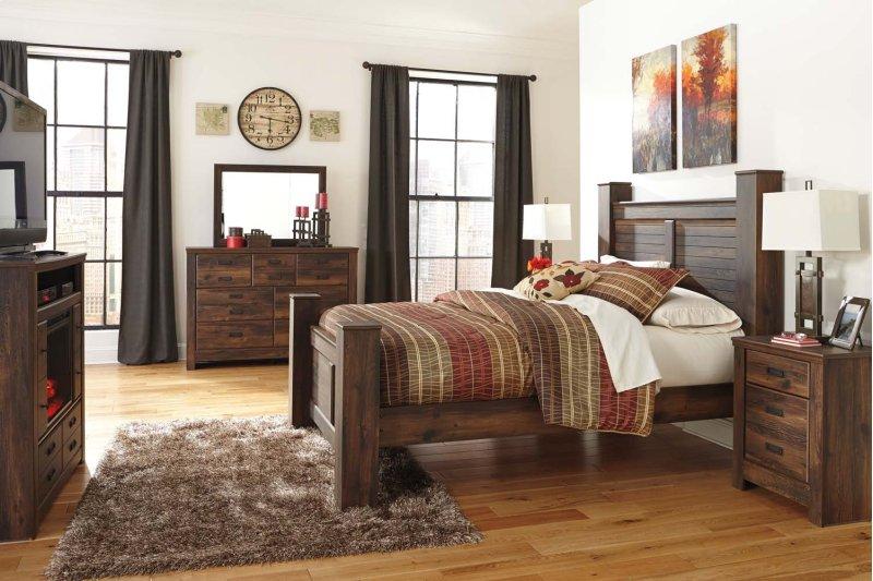 Hidden Additional Quinden Dark Brown 2 Piece Bedroom Set