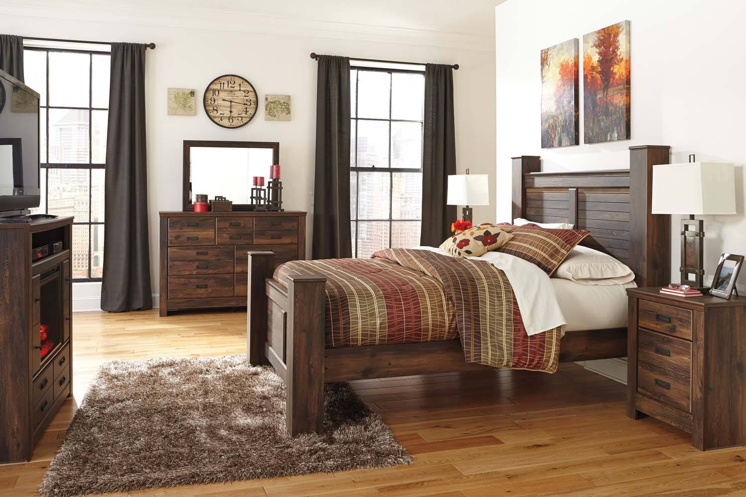 Hidden · Additional Quinden   Dark Brown 2 Piece Bedroom Set