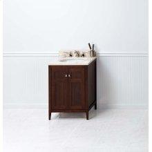 "Briella 24"" Bathroom Vanity Cabinet Base in American Walnut"