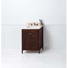 "Briella 24"" Bathroom Vanity Cabinet Base in American Walnut"