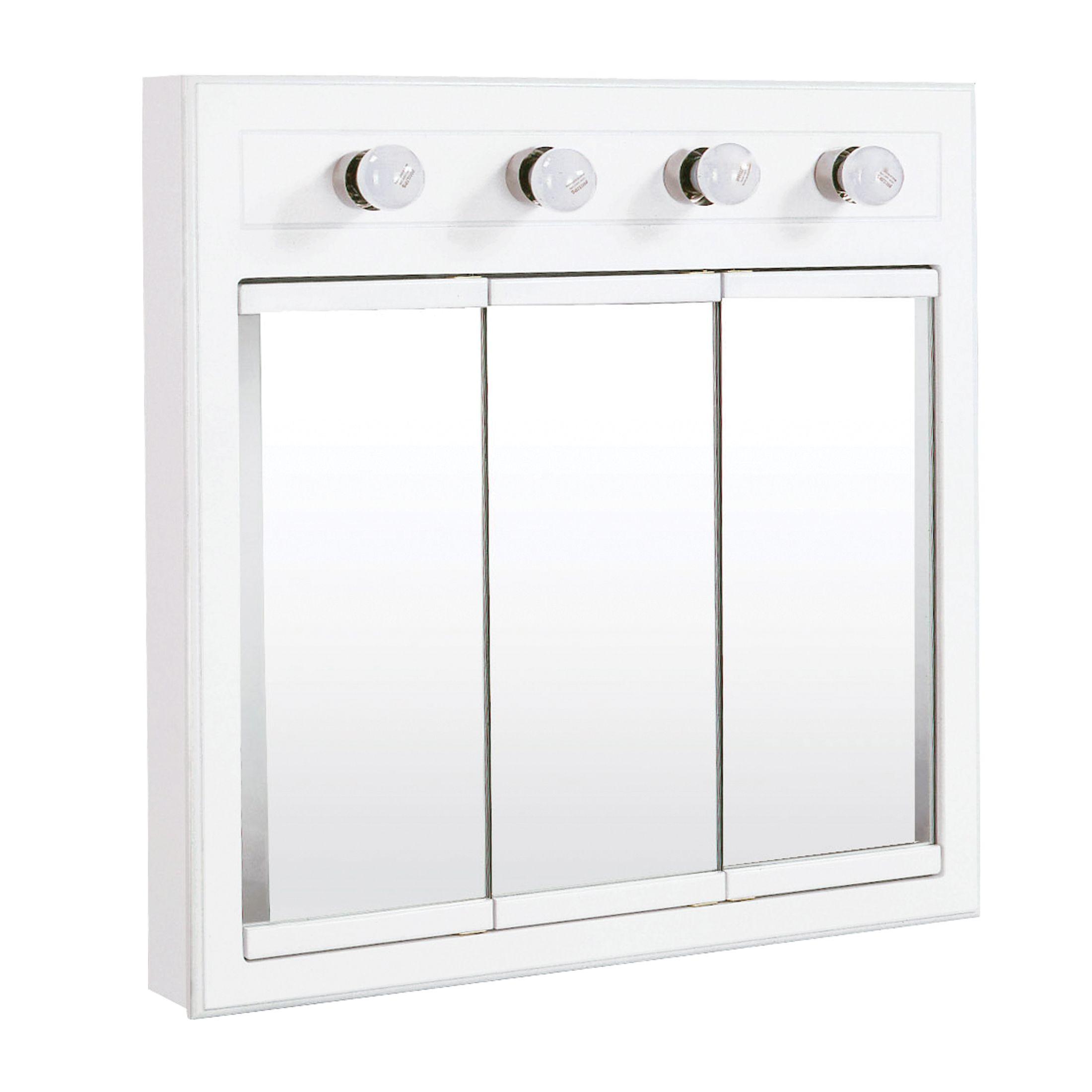 """Concord Lighted Medicine Cabinet Mirror 30"""", White #532382"""