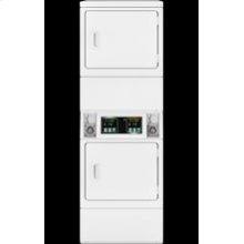 Micro Display Stack Dryer Front Control Solid Door