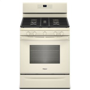 5.0 cu. ft. Freestanding Gas Range with Center Oval Burner Biscuit - BISCUIT