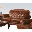 Dark Brown Leather Loveseat Product Image