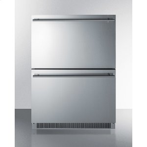 SummitCommercially Listed Energy Star Certified 2-drawer All-refrigerator In Stainless Steel Designed for Indoor or Outdoor Use Under Standard or ADA Compliant Counters
